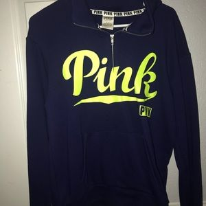 Victoria's Secret PINK Half zip sweatshirt